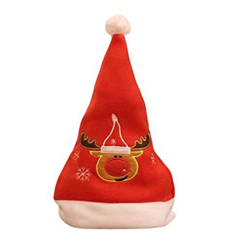 LAOSI Moderne Kreativität, Weihnachtsmütze, Stickerei, für Kinder und Erwachsene, merhfarbig, As Shown