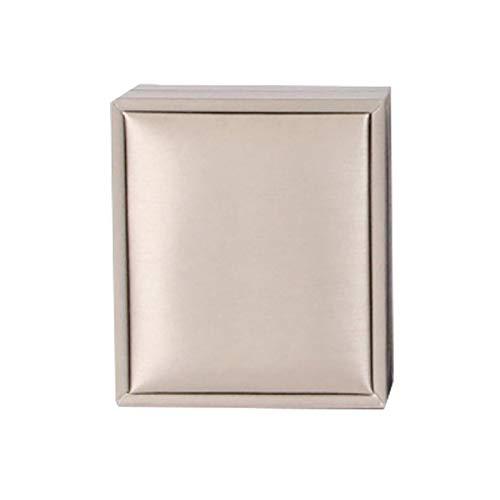AchidistviQ Caja de regalo para joyas, pendientes, collares, pulseras, anillos, caja de almacenamiento para el día de San Valentín, cumpleaños, caja de regalo con colgante dorado *