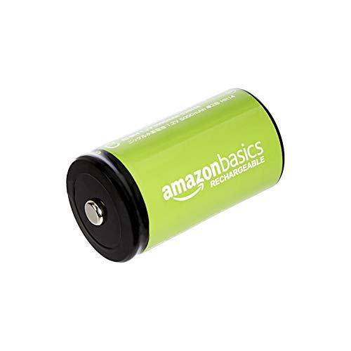 Panasonic eneloop, Ready-to-Use NI-MH Akku, AA Mignon, 4er Pack mit wiederverwendbarer Verpackung, min. 1900 mAh, 2100 Ladezyklen & Amazon Basics - Babyzellen (C) Akkumulatoren 1.2V, 4er-Pack