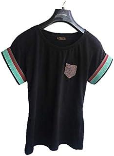 Emoltem Ladies Short Sleeve Cotton T-Shirts - Black (S,M,L)