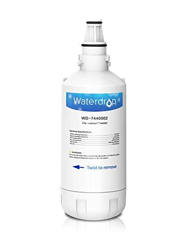 Waterdrop 7440002 Gefrier-Kühlschrank Wasserfilter Ersatz kompatibel mit Liebherr 7440002, 7731240, 440002, 53-WF-26LR, CBNes 6256, CNes 5166, 6256, SBSes 7155, 7263, 7273, 7353 (1)