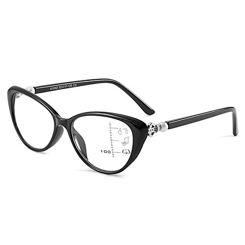 NWB Gafas de Lectura Progresivas con Bloqueo De Luz Azul De Enfoque Múltiple, Lectores con Bisagras De Resorte para Hombres Y Mujeres, Antideslumbrante/Fatiga, 1.0X, 2.0X, 3.0X