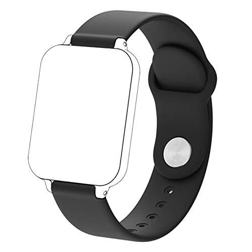 XUEMEI Banda de Correa para B57 Smart Watch Mujeres Hombres Impermeable a Prueba de Agua 16mm Correa Deportiva Strap de Pulsera Inteligente (Color : Black)