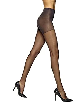 No Nonsense Women s Graduated Compression Smart Support Control Top Pantyhose Midnight Black-3 Pair Pack C