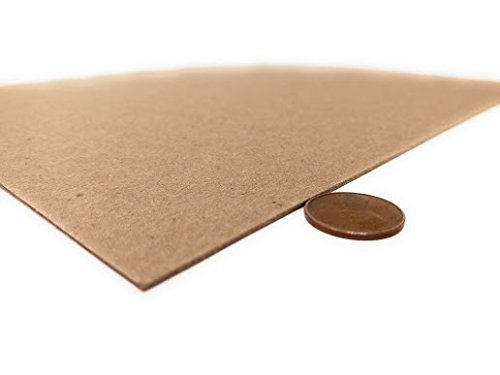 8.5 x 11 Inches 50 Point Kraft Heavy Duty Chipboard Sheets - 20 Per Pack |