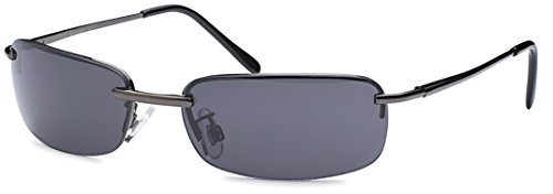sportlich elegante Sonnenbrille Trento rahmenlos mit Flexbügeln + Brillenbeutel - Agent Smith Sonnenbrillen