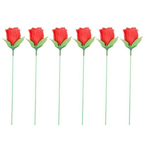 STOBOK 6 Pezzi di Fiamma Trucco Rose Fuoco Trucco Fiamma Apparendo Fiore di Rosa Puntelli Mago