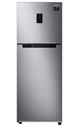 Samsung 314 L 2 Star Inverter Frost Free Double Door Refrigerator (RT34A4622S8/HL, Silver,...