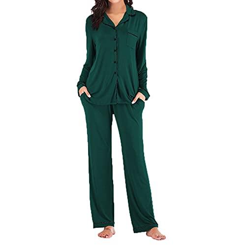 Nuevos Pijamas Estampados para Mujer, Conjunto De Pijama con Botones Largos, Conjuntos De Pijamas, Ropa para El Hogar, CháNdal, Pijamas, Trajes
