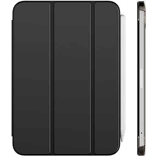 JETech Hülle Kompatibel mit iPad Mini 6 (8,3 Zoll, 2021 Modell, 6. Generation), Unterstützung Pencil 2, Generation Aufladung, Intelligent Schutzhülle mit Auto Schlafen/Wachen, Schwarz