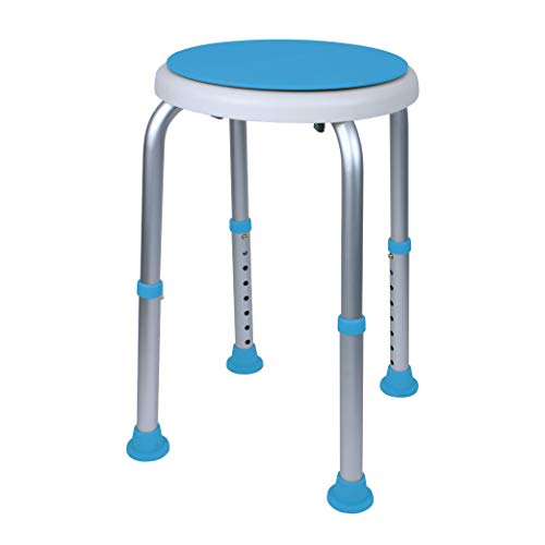 Carex Swivel Shower Stool With Padded Seat, Shower Seat For Seniors, Elderly, Handicap, Disabled, or Those Home From Surgery