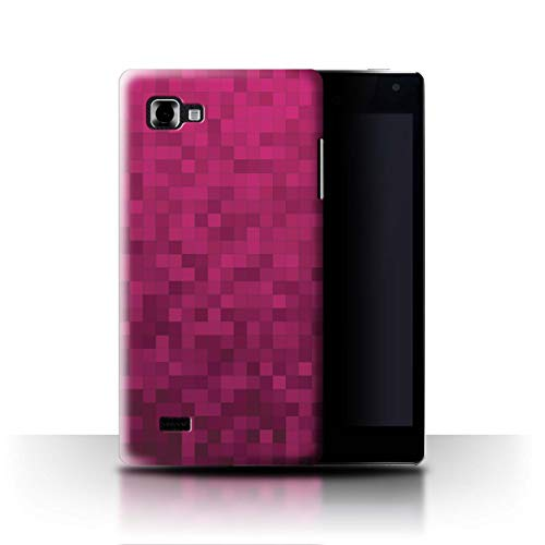 Stuff4® Coque de Coque pour LG Optimus 4X HD P880 / Rose VIF Design/Camouflage Motif Pixel Collection