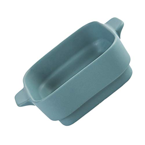 YARNOW Ceramic Baking Dish with Handle Rectangular Baking Pan Lasagna Casserole Pan Pie Tray Roasting Tin Fruit Salad Tray Cake Dish Oven Bakeware for Kitchen Supply Dark Green