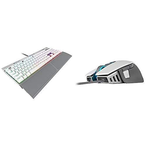 CORSAIR K70 RGB MK.2 SE Mechanical RAPIDFIRE Gaming Keyboard - PBT Double-Shot Keycaps and CORSAIR M65 ELITE RGB - FPS Gaming Mouse - 18000 DPI Optical Sensor
