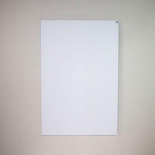 Infrapower INFRA-VCIR-600-G-W pannello radiante ad infrarossi in vetro bianco senza profilo 600 Watt Montabile in orizzontale o verticale a parete o soffitto Misure 60x90x2,5 cm