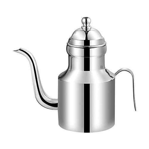 Botella dispensadora de aceite de oliva de acero inoxidable 304, 310 ml/11 oz sin goteo para verter aceite recipiente de almacenamiento para ensaladas y cocina