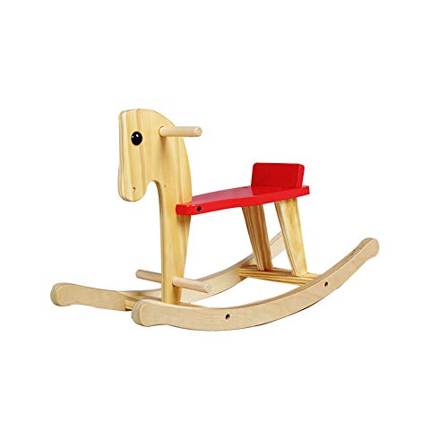 N / C Environmentally Friendly Wooden Rocking Horse, Compact and Portable, Toddler Rocking Chair, Suitable for Baby Toys from 1-3 Years Old