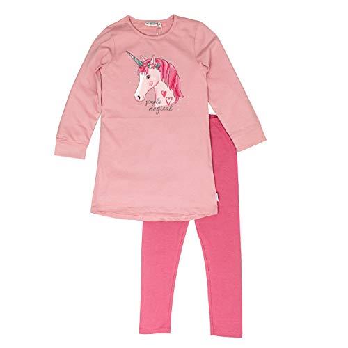 Salt & Pepper Mädchen Pyjama Sleepshirt Einhorn Zweiteiliger Schlafanzug, Rosa (Dusty Pink 824), 92 (Herstellergröße: 92/98)