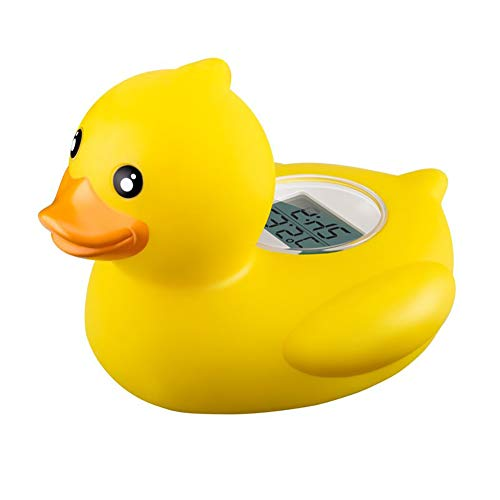 TrifyCore Baby Badewannenthermometer Safe Floating Bath Toys Badethermometer für Pool und Bad Bath Tester, Cute Animal Shape (Ente gelb)