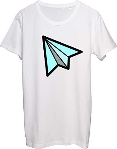 Paper Plane Modern Artwork - Camiseta para hombre