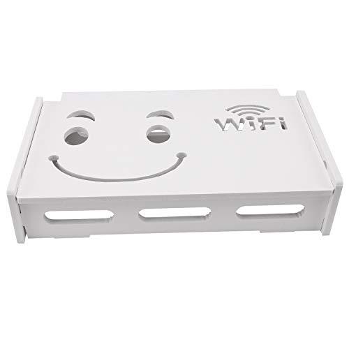 Phyachelo Caja de almacenamiento para enrutador Wifi de madera y plástico para colgar en la pared, soporte de almacenamiento de cables, decoración del hogar, grande