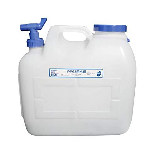 lossomly Bidón de agua potable de 23 l, recipiente de agua de plástico con grifo y tapa para autoconductores y camping al aire libre, antigoteo y sin BPA, duradero, fácil de llevar.
