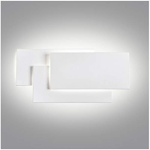 Ralbay Aplique Pared Interior LED Impermeable IP20 Aplique Espejo Baño Diseño Sencillo Moderno 24W Blanco Cálido...