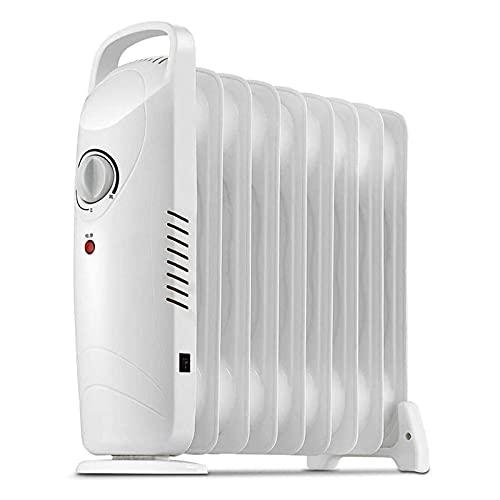 LIXHZJ Radiador de 700 W cargado de aceite, calentador de espacio eléctrico portátil con asa, termostato ajustable y interruptor de seguridad, adecuado para el hogar, oficina, elección//108