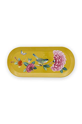 Pip Studio Servierplatte Blushing Birds | Yellow - 33,3 x 15,5 cm
