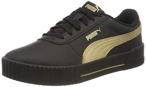 PUMA Damen Carina Meta20 Sneaker, Black Team Gold, 38 EU