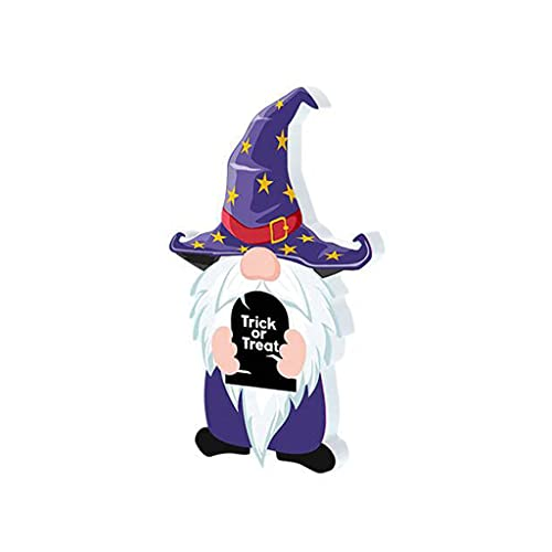 XIXILI Hanging Pendant, Halloween GNOME Wooden Toys Pumpkin Candy Ornaments for Halloween Festival Decorations