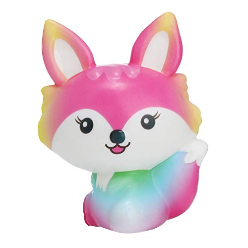 JSPOYOU Squishies Toy Kawaii Fox Slow Rising Cream Scented Stress Relief Toys Gifts