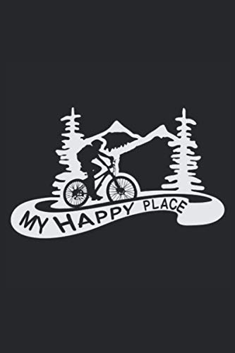 MY HAPPY PLACE: Notebook I Journal I Planner I 6 x 9 with 120 Pages, Blank Frame Design I Glossy Cover I Mountain Bike, Mountainbike