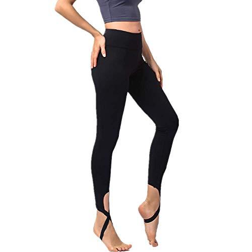 Yoga Mujeres Energy Seamless Tummy Control Pantalones de Yoga Medias de Gimnasio súper elásticas Leggings Deportivos de Cintura Alta Pantalones para Correr Negro