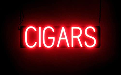 SpellBrite Ultra-Bright Cigars Neon-LED Sign (Neon look, LED performance)