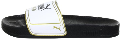 PumaKing Top Slide - Sandali Unisex – Adulto, Nero (Schwarz (Black-White-Team Gold 01)), 38 EU
