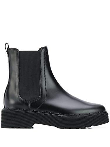 Tod's Luxury Fashion Damen XXW80C0DR70OG9B999 Schwarz Leder Stiefeletten | Herbst Winter 20