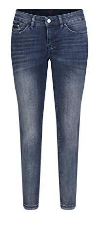 MAC Jeans Damen Dream Slim Jeans, Dark Smoky Authentic, W44/L27 (Herstellergröße: 44/27)