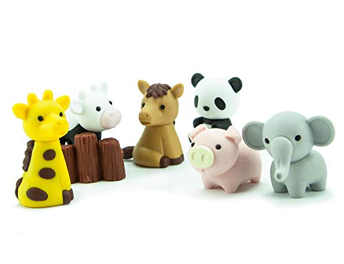 Ty Iwako Eraserz - Zoo Animals Pack, Colours May Vary - Figura de Jugu