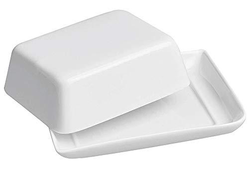 Retsch Arzberg 149978161 Fantastic Butterdose 15,5cm, New Bone China Porzellan, weiß (1 Stück)