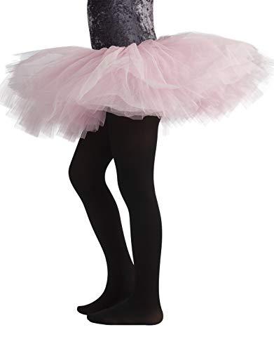 CALZITALY Collant Danza Bambina   Calze Ballet Bimba   40 Den   Rosa, Nero, Naturale, Bianco   (4 anni, NERO)