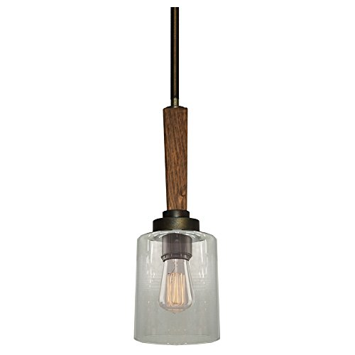 Artcraft Lighting Legno Rustico Single Pendant, Light Pine/Burnished Brass
