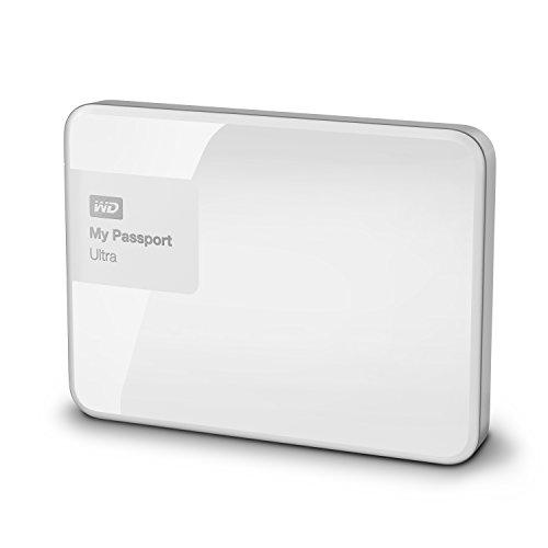 Western Digital My Passport Ultra 1 TB Externe Festplatte (bis zu 5 Gb/s, USB 3.0) brillantweiß