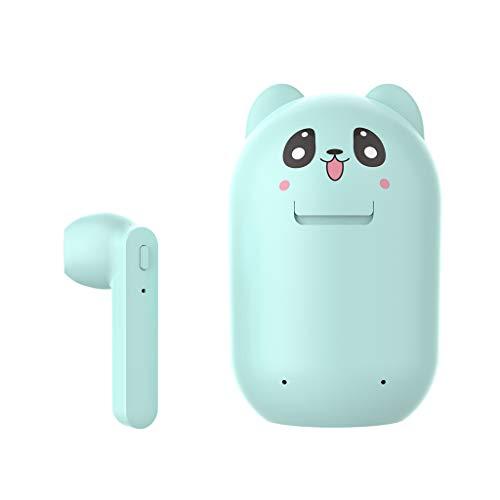 EATAN Auriculares Leiouser Blueteeth 5.0, TWS inalámbricos, con caja de carga con patrón de animales de dibujos animados
