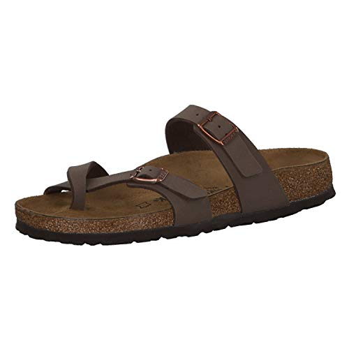 Birkenstock Womens Mayari Holiday Birko-Flor Beach Summer Flat Sandals - Mocha - 9