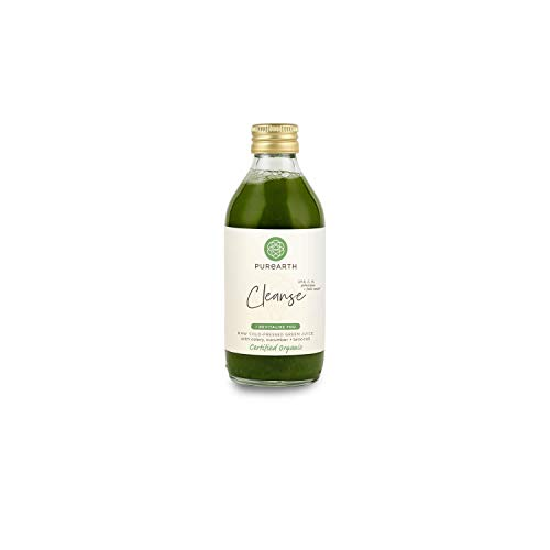 Purearth Cleanse Green Juice 270ml, Certified Organic, Cold-Pressed, 12