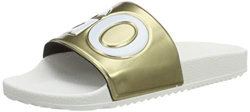 HUGO Timeout_Slid_mt, Damen Pantoletten, Gold (Gold 710), 37 EU (4.5 UK)