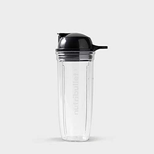 NutriBullet 680 ml Becher mit To-Go Deckel, transparent/schwarz