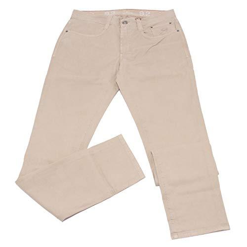 Carlo Chionna 0542K Pantalone Uomo 9.2 Jeans Beige Cotton Trouser Man [40]