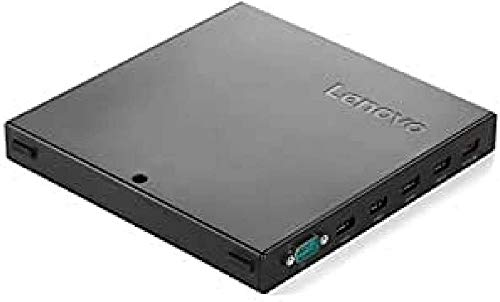 Lenovo 4XH0L54952 USB 2.0 Negro - Base (Alámbrico, USB 2.0, ThinkCentre M600 Tiny, ThinkCentre M700 Tiny, ThinkCentre M900 Tiny, 90 W, Negro, 1 Pieza(s))